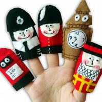 London British Finger puppets