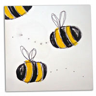 Bumble Bee Canvas - Children's Art