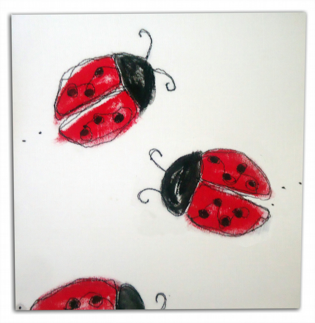 Ladybird Canvas - Children's Art