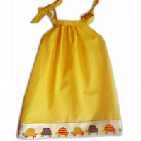 Girls Yellow Tortoise Dress