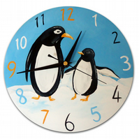 Children's Penguin Wall Clock