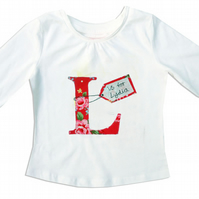 Personalised Girls Alphabet T-shirt