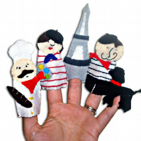 Paris French Finger puppets