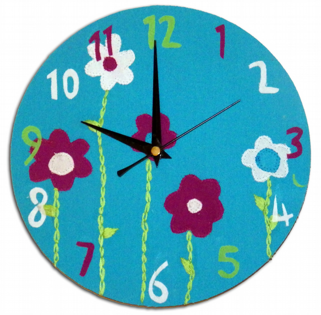 Turquoise Flower Clock