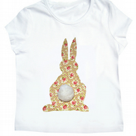 Girl's Easter Bunny Rabbit T-Shirt