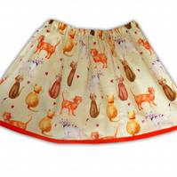 Girls Cat Skirt