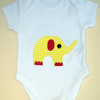 Yellow Elephant Babygrow