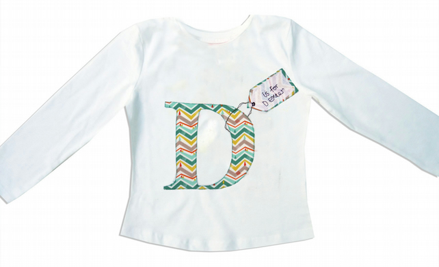 Christmas Personalised Alphabet Boys T-shirt
