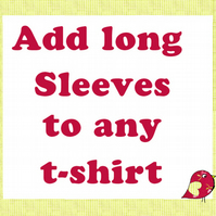 Add Long Sleeves to any kids T-shirt