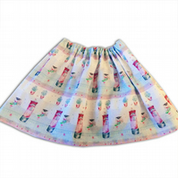 Girls Christmas Postbox Skirt