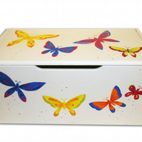 Butterfly Toy Box - Large - Kids Storage Box