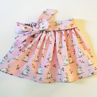 Girls Pink Rabbit Skirt