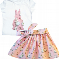 Bunny Rabbit Outfit Skirt and T-shirt