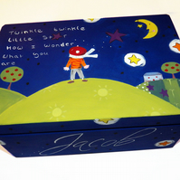 Personalised Twinkle Twinkle Little Star Keepsake Box - Toy Box