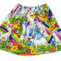 Girls unicorns and Rainbow  Skirt