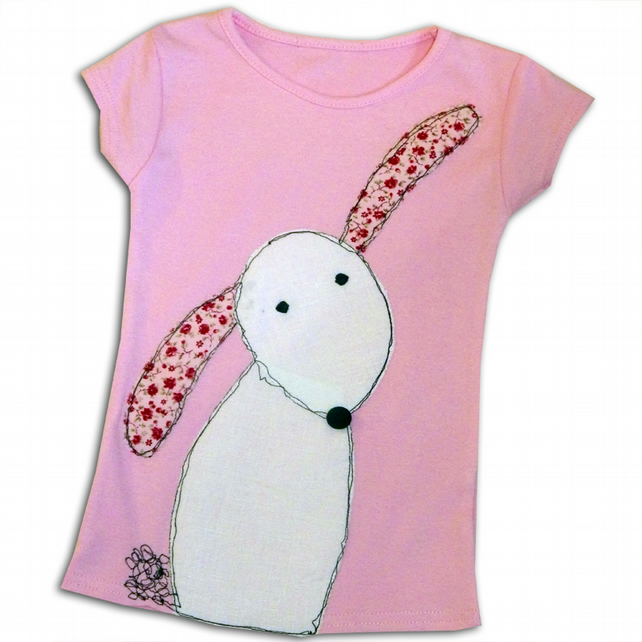 Girl's Pink Rabbit T-Shirt