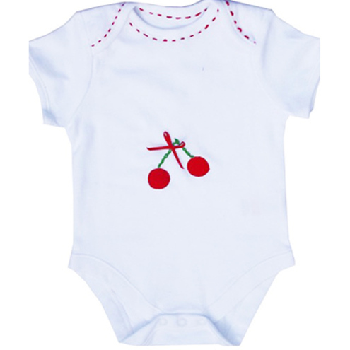 Girls cherry Babygrow
