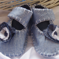 Blue Flower Babies Shoes