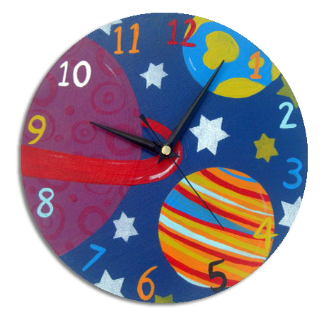 Children's Outer Space Clock