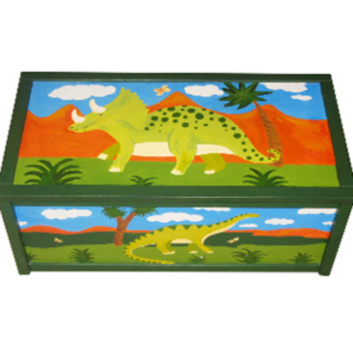 Personalised Dinosaur Toy Box