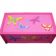 Personalised Butterfly Toy Box