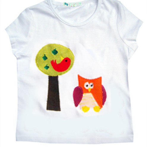 Owl and Apple Tree T-Shirt