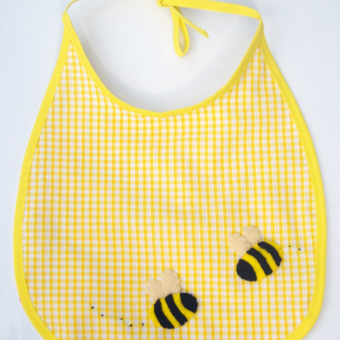 Babies Yellow Bumble Bee Bib