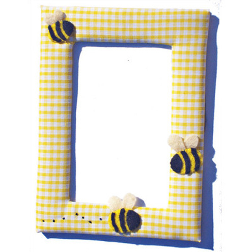 Bee Fabric Photo  Picture Frame