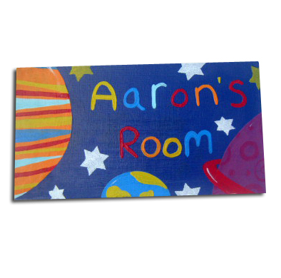 Outer Space Personalised Door Sign