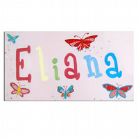 Butterfly Personalised Door Sign