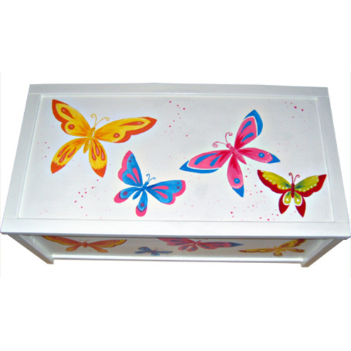Personalised White Butterfly Toy Box