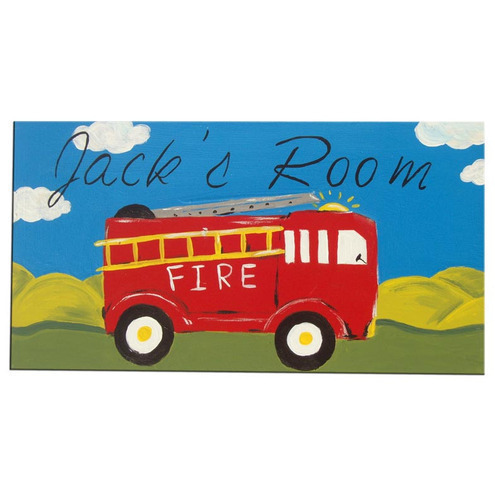 Fire Engine Door Sign  Name Plaque