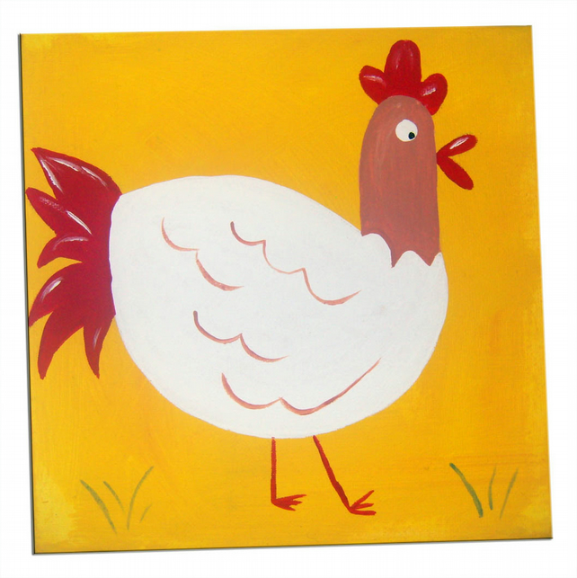 Fun with the Farm Animals Hen Canvas