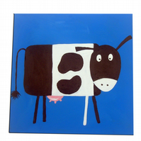 Fun with the Farm Animal Cow Painting Canvas