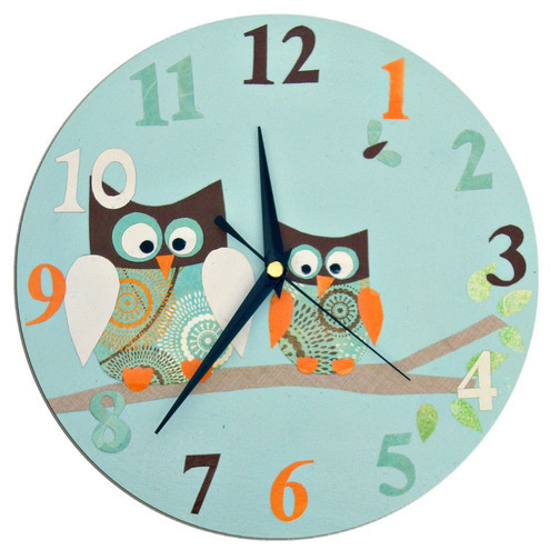 Blue Owl Clock