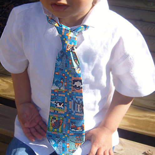Boys Farm Animals Neck tie