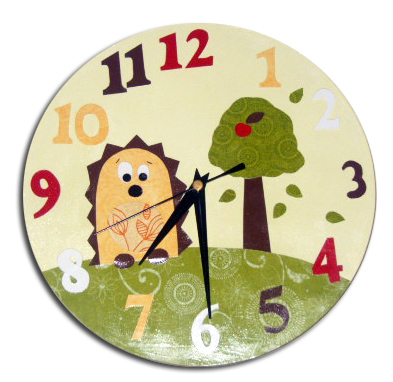 Yellow Hedgehog Clock