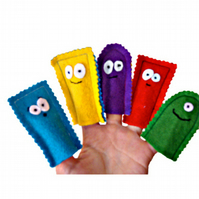 Happy Monster Finger Puppets