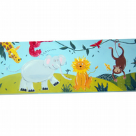 Jungle Animals Childrens Art Canvas