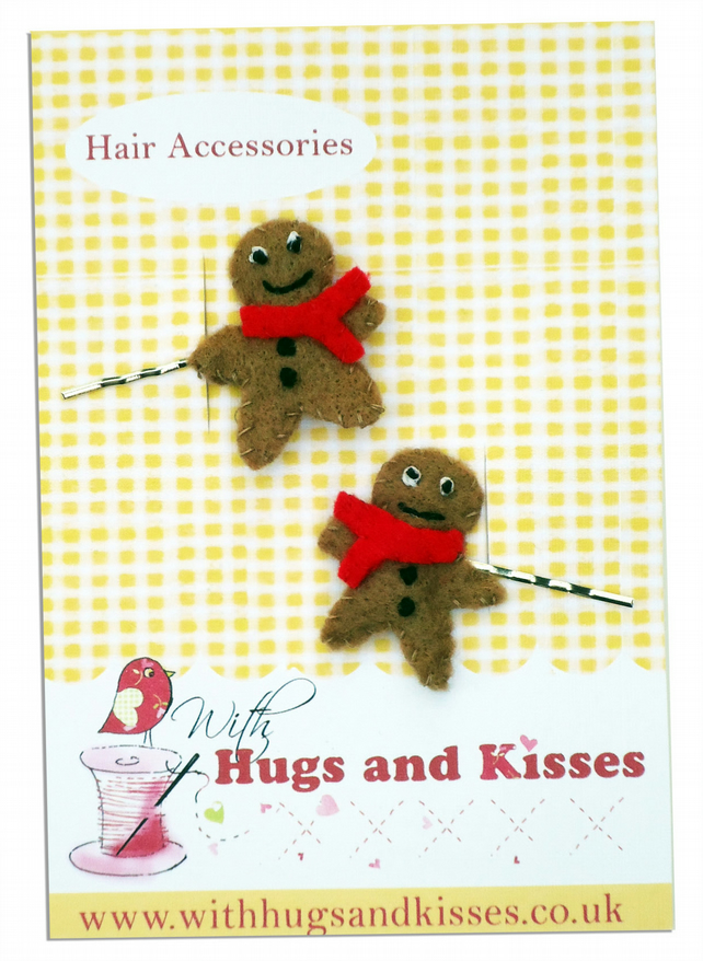 Gingerbread man Hair Slides