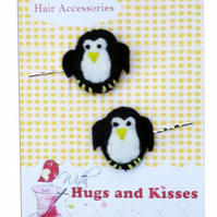 Penguin  Hair Slides