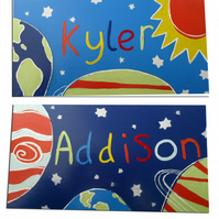 Space Personalised Door Sign