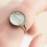 Map Ring Customized Jewellery Vintage World Map Ring