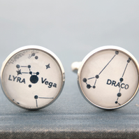 Star Constellation for men, Mens Jewellery Cufflinks