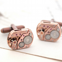 Omega Cufflinks Copper Wedding Anniversary Gift for Husband