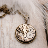 Steampunk Watch Movement Necklace Unisex Jewellery Necklace