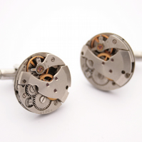 Industrial Cufflinks with Watch movements