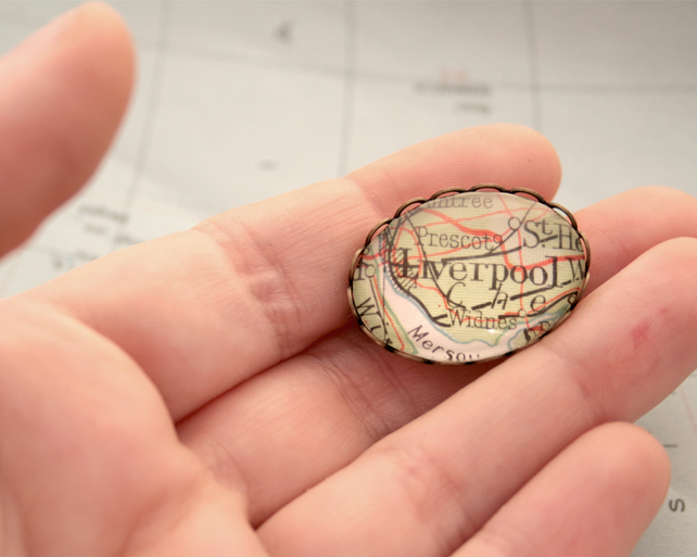Custom Map Brooch Personalized Jewellery with Map