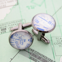 Cufflinks for pilot with high altitude maps