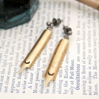 Golden Dangle Earrings Fountain Pen Nibs Gift For a Teacher